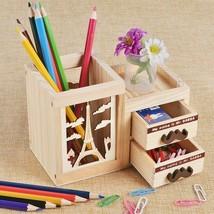 Wooden Cute Desktop Drawer Organizer Fashionable Storage Box Plastic Acc... - $15.03