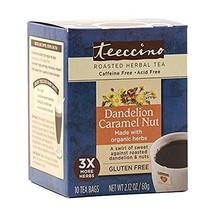 Teeccino Organic Herbal Coffee Dandelion Caramel Nut, 10 Count