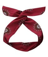 Boho Headbands for Womens Vintage Red Self-tie Twist Bow Wire Hair Band ... - $20.50