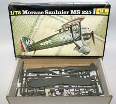Vintage HELLER 1:72 Scale MORANE SAULNIER MS 225 Fighter Plane Model Kit... - $15.00