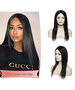 Unprocessed Brazilian Human Hair Wigs Middle Part Natural Machine Made 1... - $67.29