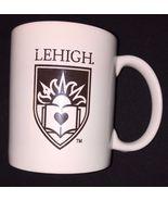 Lehigh University White and Brown Crest Logo Coffee Cup Mug EUC - $29.99