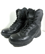 Magnum Stealth 8.0 Force Black Military Combat Police Boots Size Zip Siz... - $44.50