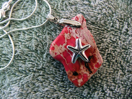 Pendant Handcrafted Coastal Pendant with 925 Silver Plated Chain - Pink ... - $16.00