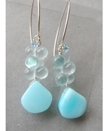 Peruvian Opal Designer Silver Camp Sundance earring Blue Earrings - $28.51