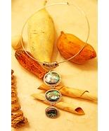 Beautiful Paua Shell Pendant Necklace - $40.00