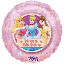 "Disney Princess Ball 18"" Round Foil Mylar Balloon Happy Birthday Party - $2.23"