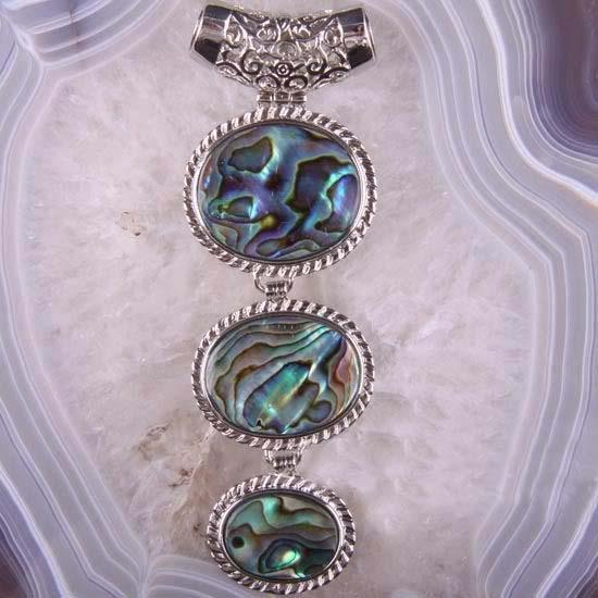Beautiful Paua Shell Pendant Necklace