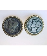 MERCURY 1935 DIME Men's Cufflinks - Vintage -FREE SHIPPING - $55.00