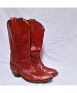 VTG Frye Melissa Boots Classic Leather Brown Western Campus Pull On Wome... - $69.99