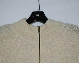 Simply Noelle Brand JCKT222Z Womens Pearl Zippered Sweater Jacket Size XXL image 5