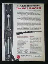 1970 Ruger M-77 Magnum Shotgun Rifle Sturm, Ruger & Company Inc. Full Page Ad - $6.64
