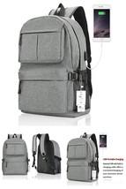 "Laptop Backpack 15"" USB Charging Port Lightweight Travel Bag for Men Wom... - $41.05"