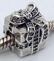 Authentic Pandora Sparkling Surprise Present w/ CZ Charm 791400CZ, New - $55.09