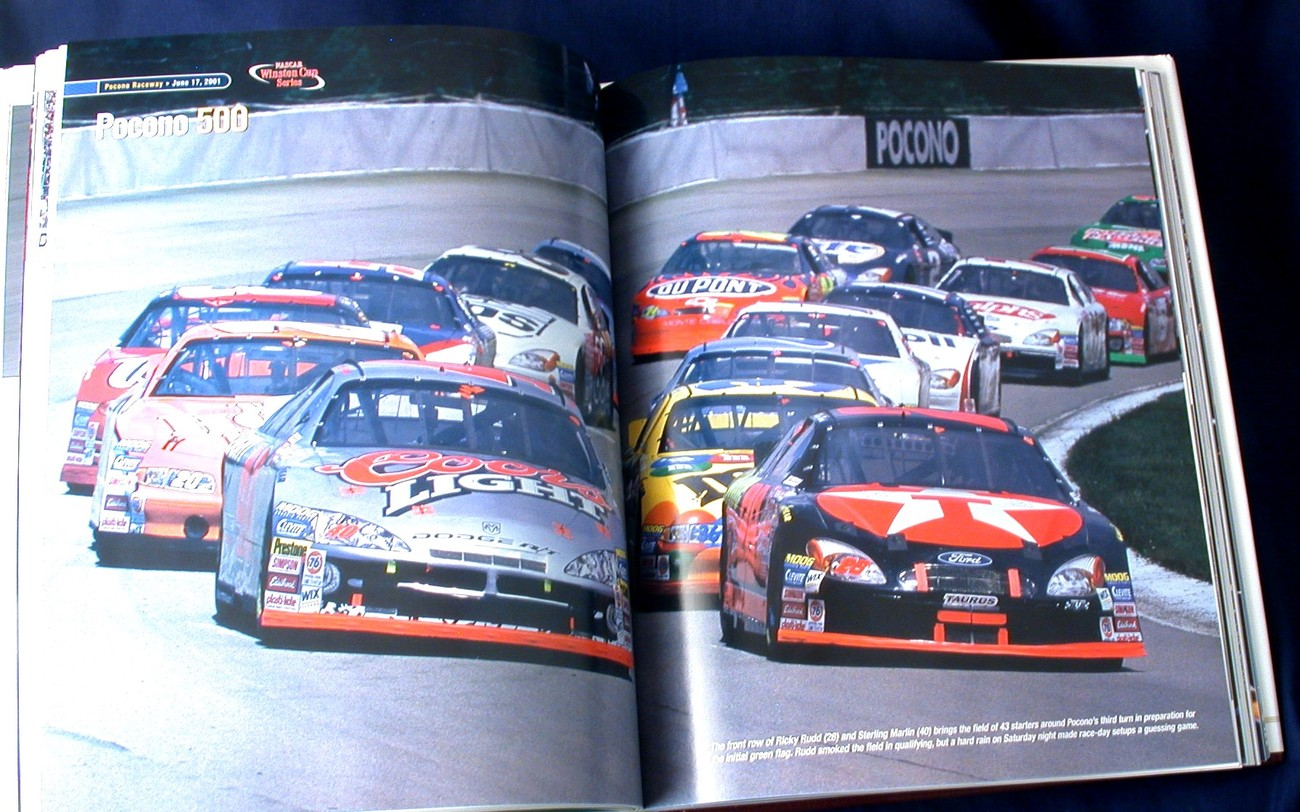 NASCAR Winston Cup 2001 30th Anniversary Edition New HC Yearbook