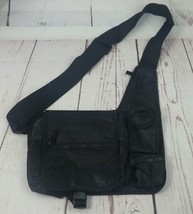 Black Casual Shoulder Bag Unisex  - $9.49