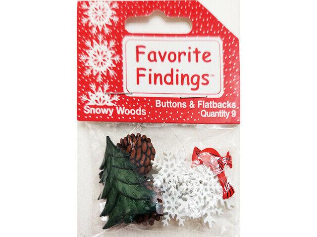 Blumenthal Lansing Co. Favorite Findings Snowy Woods Buttons & Flatbacks