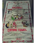 Crying Towel Baseball Vintage Linen Funny - $8.00