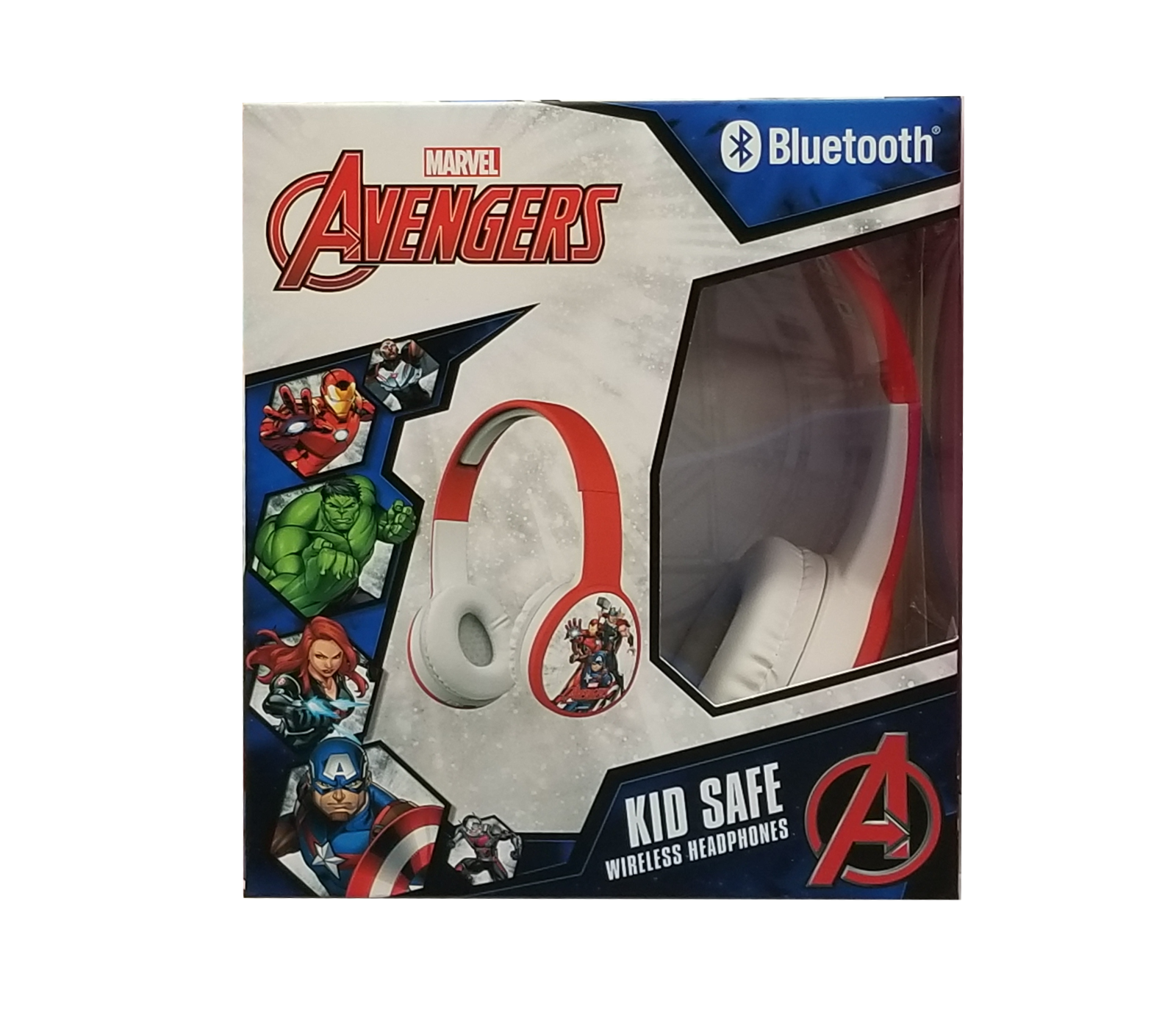 Marvel Avengers Bluetooth Kid Safe Wireless Headphones (HP-0063-BT AVENGERS)