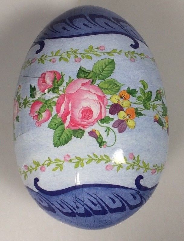 German Paper Mache Easter Egg Candy Container Germany decoration prop