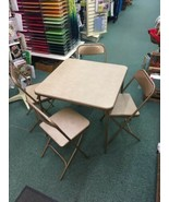 1950's/60's Samsonite Retro Mid Century Folding Chairs & table set vinyl... - $249.00