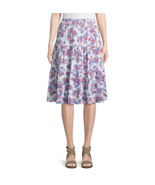 St. John's Bay Floral Jersey Pleated Peasant Skirt Size PL New - $14.99