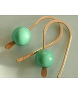 Tiny Turquoise and Gold Filled Earring - $20.00