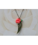 Wing and Rose Necklace - $32.00