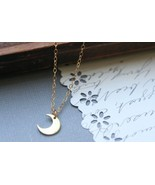 Tiny Crescent Moon Pendant (Gold Filled Chain) - $22.00