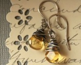 Sunshine Droplet Citrine  Earrings - $28.00