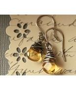 Sunshine Droplet Citrine  Earrings - $28.00