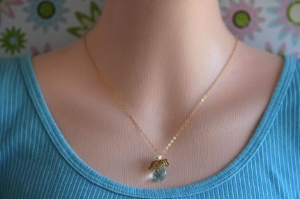 Laura Necklace Blue Quartz Briolette