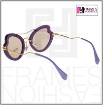 MIU MIU SCENIQUE Butterfly 11R Lilac Translucent Violet Gold Sunglasses MU11RS image 3