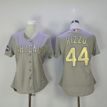 Men's Chicago Cubs 44 Anthony Rizzo Baseball Jersey Gray Champion  - $64.99