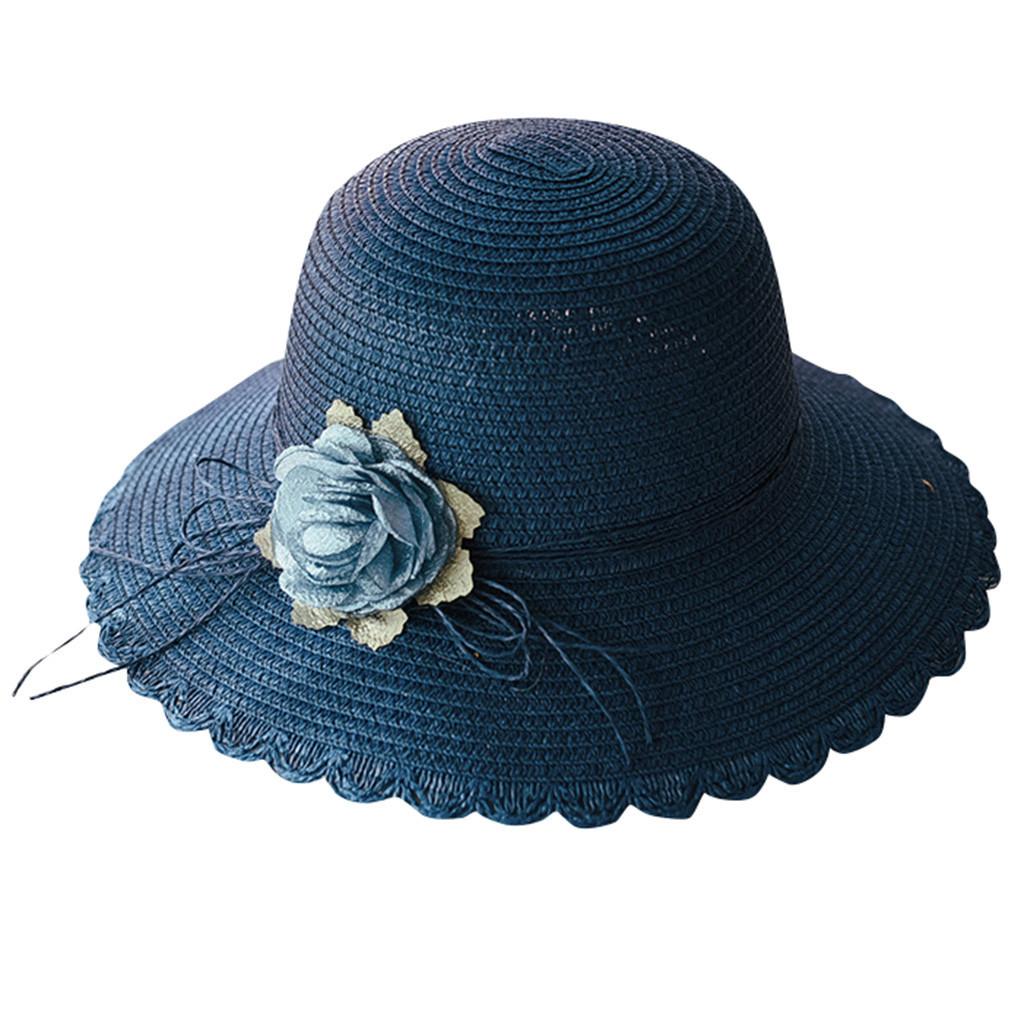 SAGACE hats Women Summer beach sun Hat Wide Brim Cap Wide Brim Straw Floppy Derb