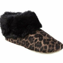 Isotoner Limited Edition Animal Velour Faux Fur Memory Foam Slip On Booties $36 - $22.99