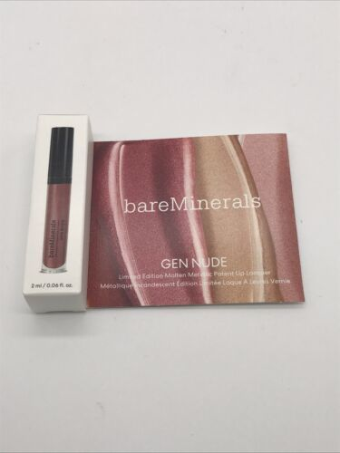 Primary image for BAREMINERALS Gen Nude ROSE QUARTZ Patent Lip Lacquer NIB 2ml/.06oz Deluxe Sample