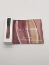 BAREMINERALS Gen Nude ROSE QUARTZ Patent Lip Lacquer NIB 2ml/.06oz Delux... - $7.38