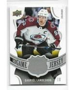 2018-19 UD Game Jersey Card # GJ-GL - Gabriel Landeskog - Avalanche - NM... - $7.69