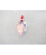 Swarovski AB Leaf Pendant Red and White Sterlin... - $25.25