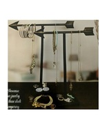 Arrow 2 Pc Jewelry Stand Set Black Metal Jewelry Hanger Holds Necklaces ... - $12.98