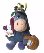 "Disney Winnie the Pooh EEYORE W/ EASTER BASKET BEAN BAG 8"" STUFFED ANIMA... - $14.35"