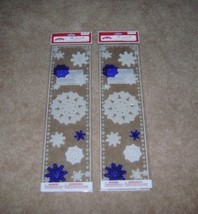 Holiday Time White and Blue Snowflake Gel Clings (2 packs). - $7.00