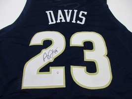 ANTHONY DAVIS - HAND SIGNED NEW ORLEANS PELICANS NAVY BLUE CUSTOM JERSEY... - $138.55