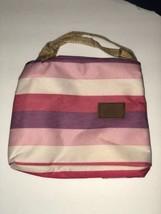 Cranc Mini Thermos Bag Pink Purple Striped - $7.61