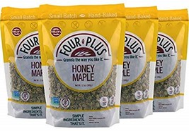 Kelly's Four Plus Honey Maple Granola, 12 oz, 4 count. Best Tasting All Natural