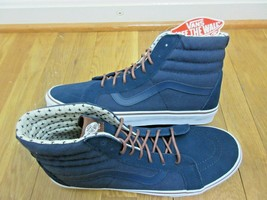 Vans Mens Sk8-Hi T&S Dress Blues Plus Canvas Suede Skate Shoes Size 13 NWT  - £51.62 GBP