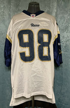 Reebok St Louis Rams Grant Wistrom Mens XL NFL Jersey #98 White Blue - $14.47