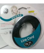GE 25 ft. Telephone Line Cord - Black 86580 - $4.99
