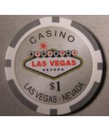 "$1.00 ""Welcome To Las Vegas"" Fantasy Casino Chip""- (sku#2069) - $2.29"